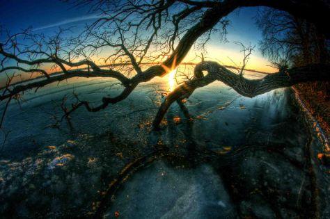 Howard Lake sunset