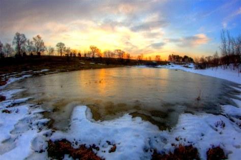 Flyby pond