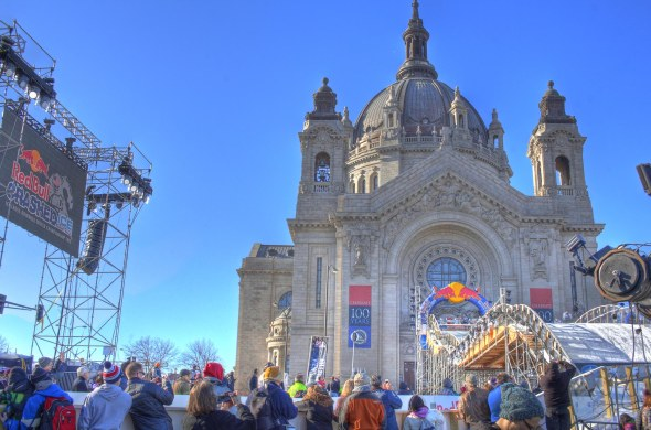 St Paul Cathedral Crashed Ice